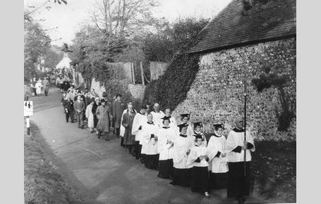 Remembrance Day procession 1957