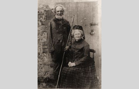 Shepherd Stephen Blackmore (1832-1919) & wife about 1900