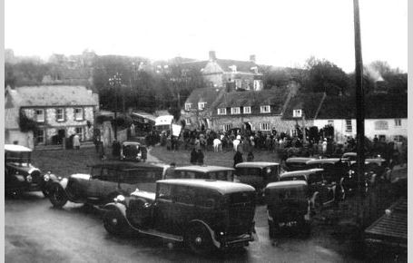 Village Green with Old Cars & Hunt