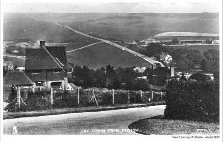 View from top of Hillside 1935